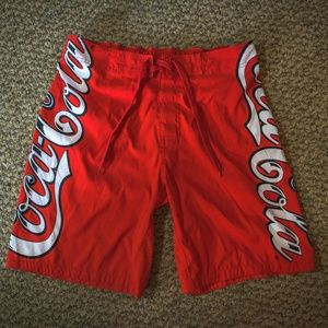 Official Coca-Cola Spellout Board Shorts